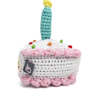 Birthday Cake Dog Toy