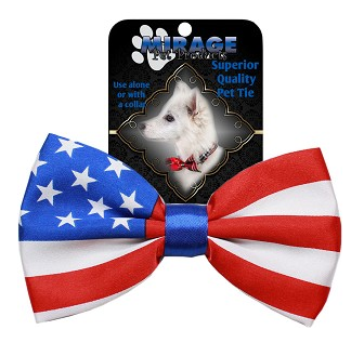 Big Dog Bow Tie American Flag
