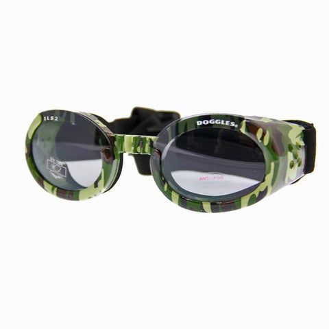 Doggles - ILS2 Green Camo Frame with Light Smoke Lens