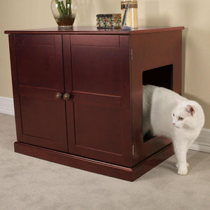 Meow Town Concord Cat Litter Box Cabinet