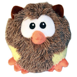 Roundimal Squeaky Dog Toy - Owl