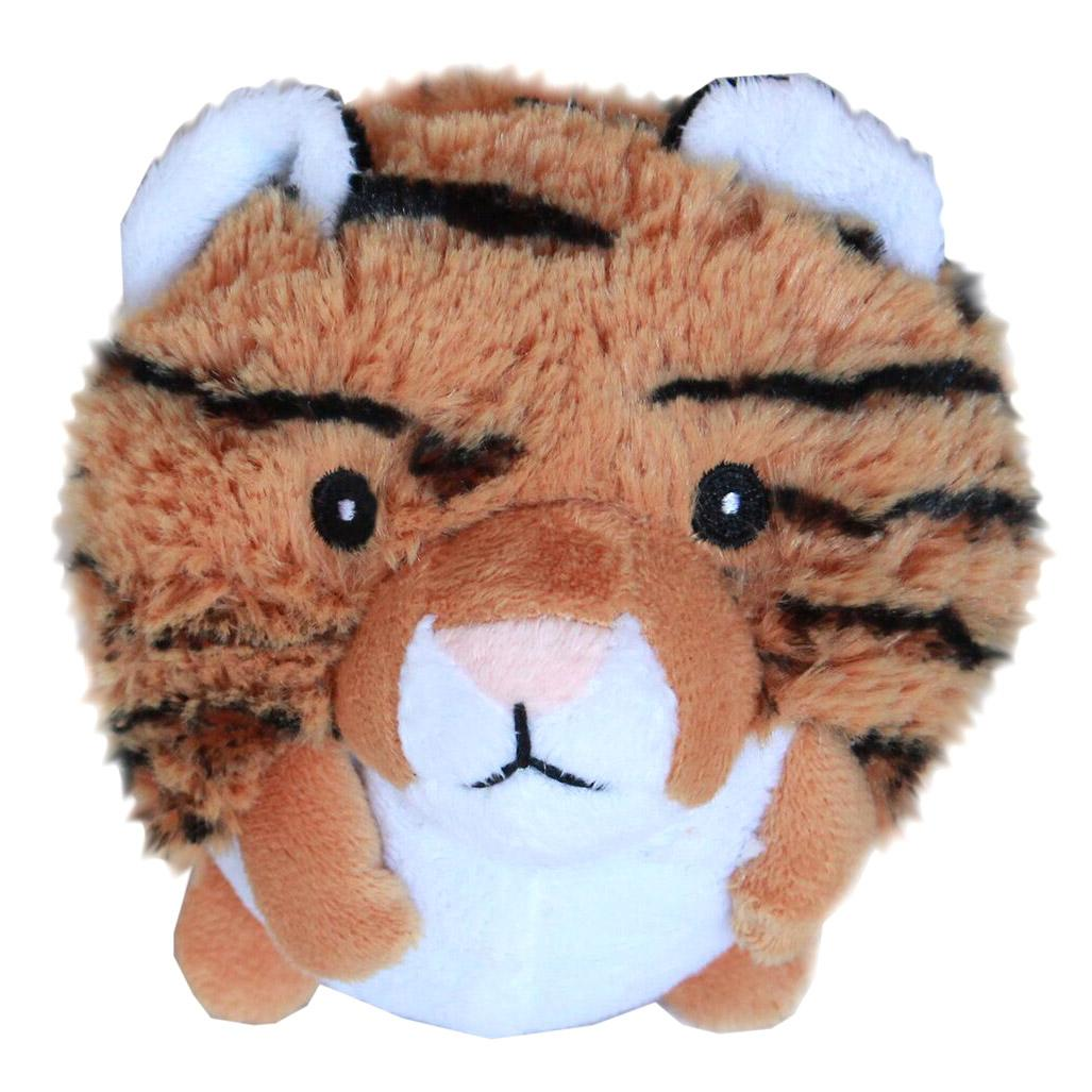 Roundimal Squeaky Dog Toy - Tiger