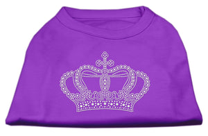 Rhinestone Crown Shirts Purple S