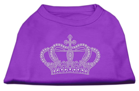 Rhinestone Crown Shirts Purple L