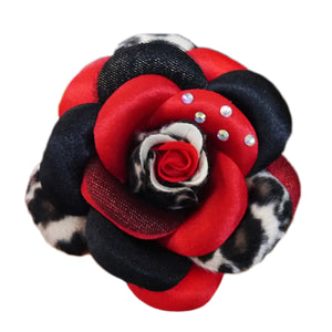 Scarlett Flower Dog Collar Attachment - Red