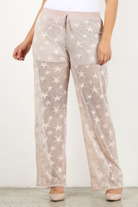 Star lace pants