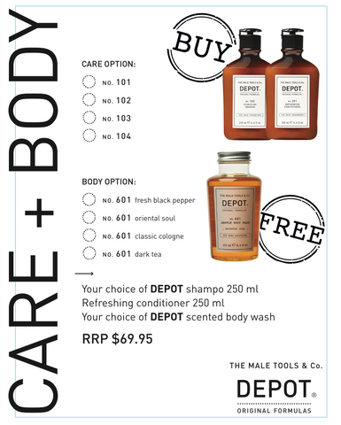 DEPOT CARE + BODY HYDRATING PACK