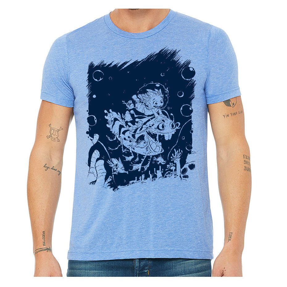 Undersea Adventure Soft Triblend T-shirt in Blue