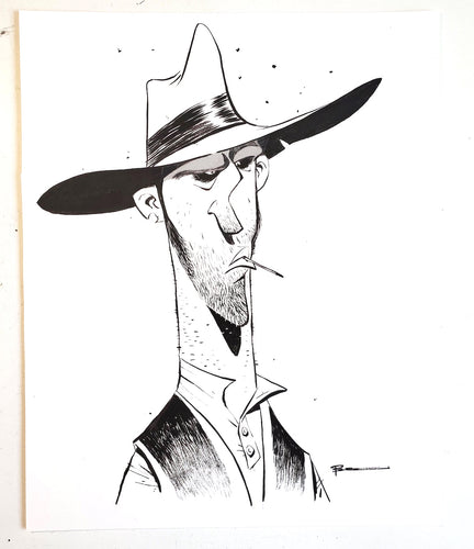 ORIGINAL Drawing - Inked Character by Brett Bean