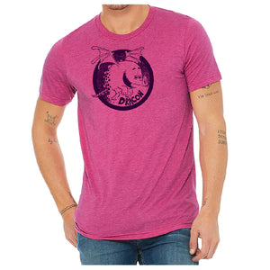Dracon Soft Triblend T-shirt in Berry