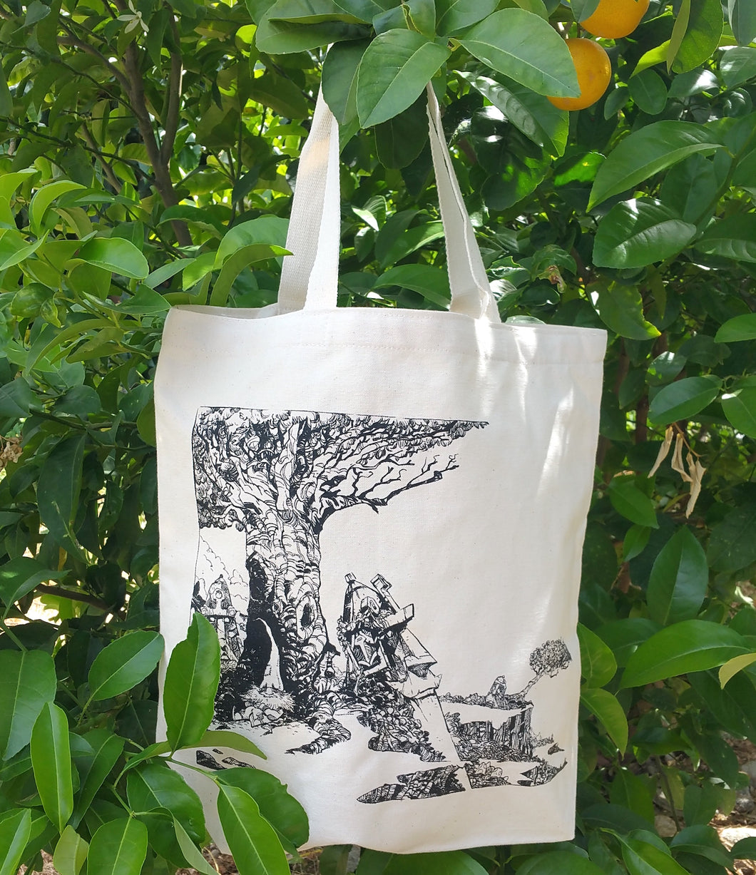 Timeless Forest Gnome Reusable Tote Bag - Organic Cotton