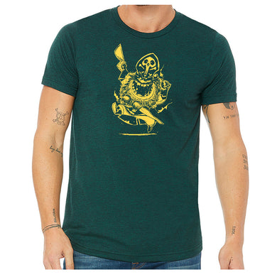 Argh Matey Pirate Soft Triblend T-shirt in Emerald Green
