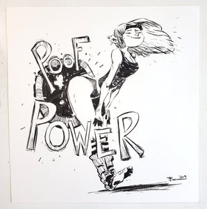 ORIGINAL Drawing - Poof Power Inked Drawing by Brett Bean
