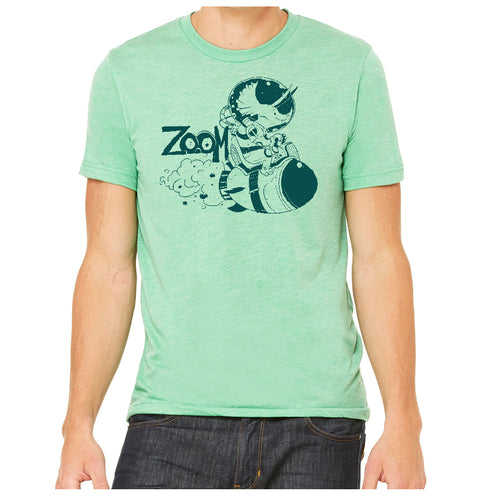 Zoom Triceratops Dinosaur Triblend T-Shirt in Green