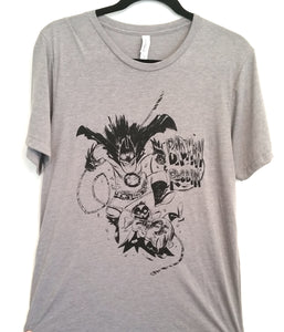Badman and Robbin Soft Grey T-shirt