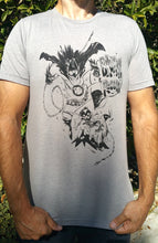 Load image into Gallery viewer, Badman and Robbin Soft Grey T-shirt