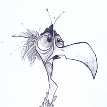 Load image into Gallery viewer, Me? Who Me? Bird Mini Art Print 4 inches x 6 inches Signed