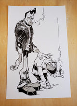 Load image into Gallery viewer, ORIGINAL Drawing - Frank and Iggy Inked Drawing by Brett Bean