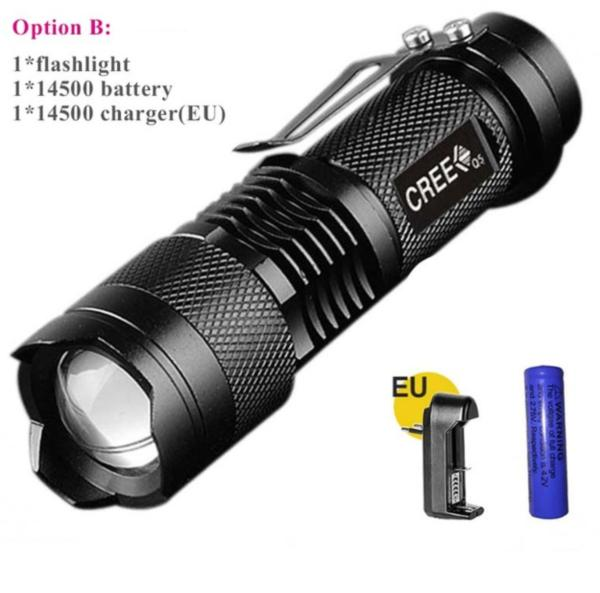LED TACTICAL FLASHLIGHT ZOOMABLE WATERPROOF RECHARGEABLE BATTERY - WildGearFactory