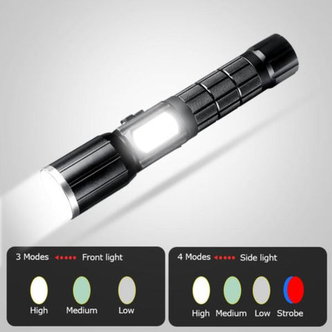 TACTICAL FLASHLIGHT ULTRA BRIGHT HIGH POWER RECHARGEABLE LED USB - WildGearFactory