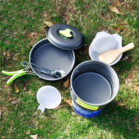 Camping Cooking Set of 8 Items - WildGearFactory
