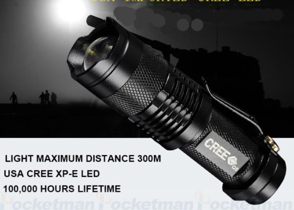 LED  TACTICAL FLASHLIGHT + MINI TORCH WATERPROOF FOR BIKE - WildGearFactory