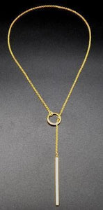 Necklaces - Silver & Gold Infinity Bar