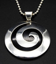 Load image into Gallery viewer, Pendant with Ball Chain - Swirl