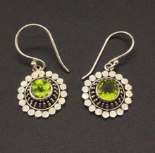 Load image into Gallery viewer, Earrings - Peridot Sun