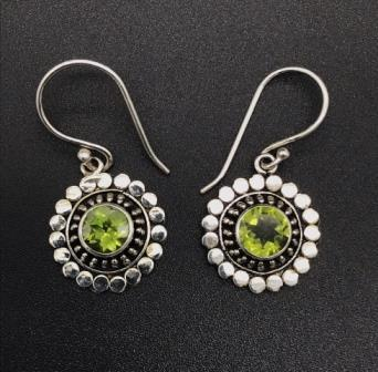 Earrings - Peridot Sun