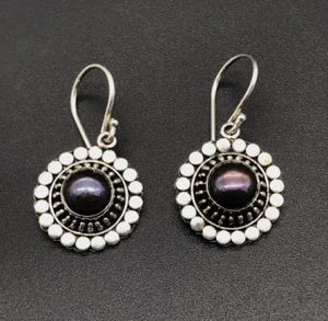 Earrings - Purple Sun