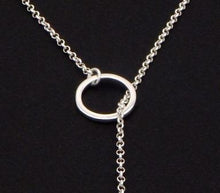 Load image into Gallery viewer, Necklaces - Silver & Gold Infinity Bar