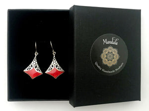 Earrings - Ruby - Mandala