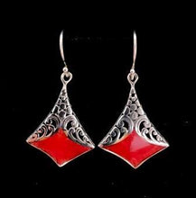 Load image into Gallery viewer, Earrings - Ruby - Mandala