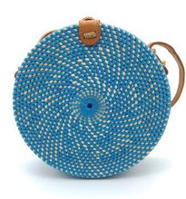 Load image into Gallery viewer, Rattan Bag - Sky - Mandala