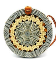 Load image into Gallery viewer, Rattan Bag - Slate - Mandala