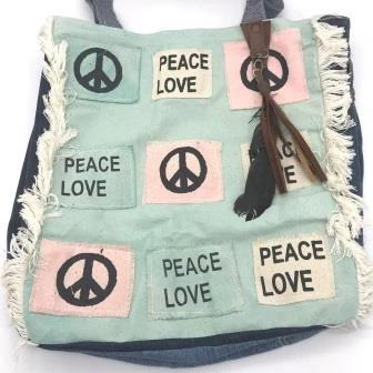 Tote Bag - Peace Love - Mandala