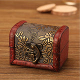 GSF European Retro Wooden Jewelry Storage Box
