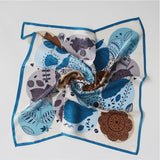 SYFS Pattern Overlay Mulberry Silk Small Square Scarf
