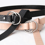 SYC Stone Pattern Double Buckle Belt