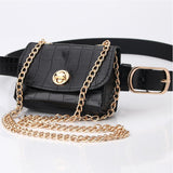 SYC Leopard Print Chain Mini Belt-bag