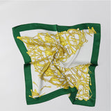 SYFS  Gold Chain Print Mulberry Silk Small Square Scarf