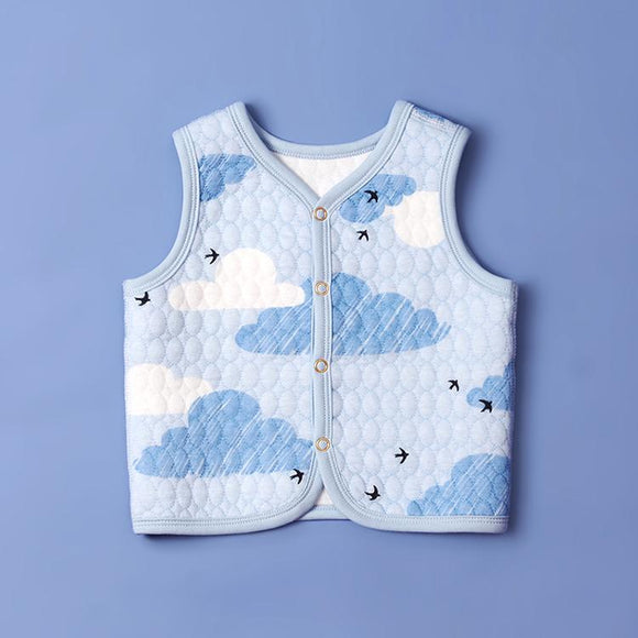 Baby Waistcoat-Blue Clouds