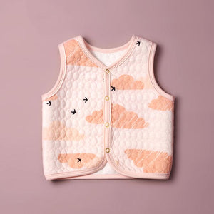 Baby Waistcoat-Pink Clouds