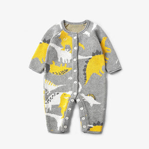 Ins Cartoon Print Baby Knitwear
