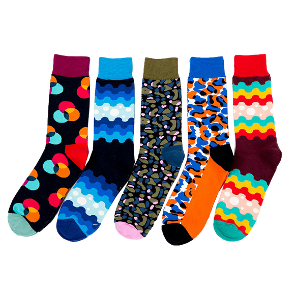 JSSK Colorful Striped Spot Socks