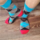British Style Diamond Shape Socks