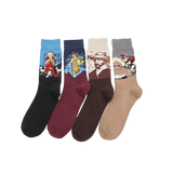 Oil Painting Portrait Series Socks