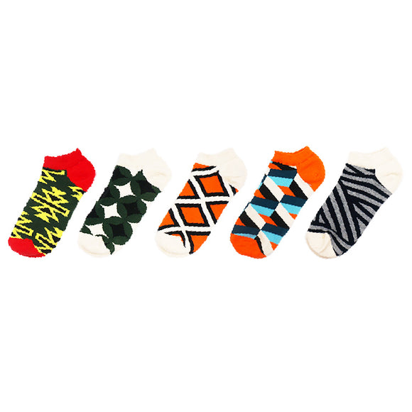 Geometric Patterns Ship Socks