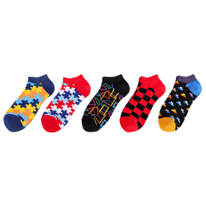 Geometric Puzzle Ship Socks